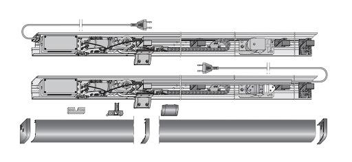 Схема подключения автоматики портала SIEGENIA HSA smart
