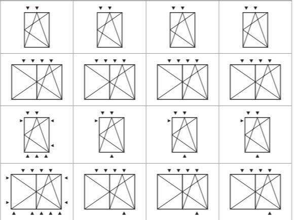 Примеры расположения герконовых датчиков на створке