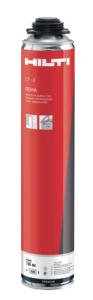 Профессиональная монтажная пена. У Hilti есть стандартная и зимняя пена. Если заказчик беспокоится о безопасности — можно использовать огнеупорный состав.