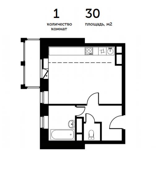 Прекрасная планировка квартиры студии с окном