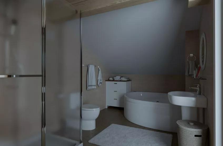 Ужасная ванная комната без окна, там темно