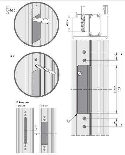 Схема монтажа петель